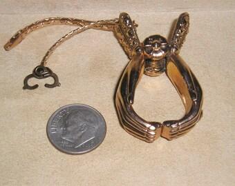 Vintage Albon Glove Ring Hand Holder 14K Gold Plated In Original Box 1950's Jewelry 10001