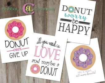 Donut Birthday Party Artwork - DIGITAL DOWNLOAD. 8x10 Donut Party Artwork. Donut Party Decor. Donut Birthday. Donut Party. Party Decoration.