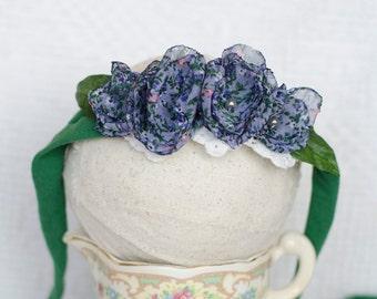 Violet tieback tie back newborn adult halo