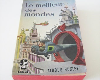 Brave New World translation / Le meilleur des mondes - by Aldous Huxley, vintage French book, sci-fi classics, dystopian science fiction