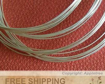 925 Sterling Silver Wire 5FT 24ga HH Round Wire 5 feet Half Hard
