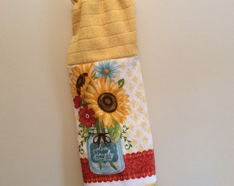 Plastic Grocery Bag Holder - Shopping Bag Dispenser - Holder - Sunflowers - Live Simply