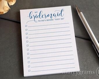 My Bridesmaid To Do's Adorable Wedding Planning Pocket Notepad for Bridal Party, Bridesmaid Box Gift for Wedding Party, Asking Bridesmaids