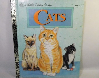 Vintage CATS - LITTLE GOLDEN Book Hardcover - Laura French - Children's Kids - Illustrated