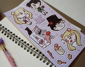 sailor moon usagi mamoru stickers