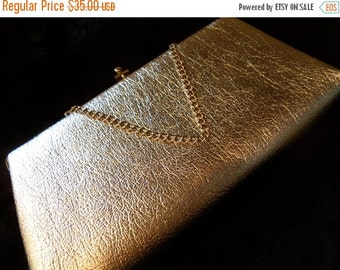 Christmas Sale Vintage Shiny Silver Clutch 1950's 1960's Collectible Purse Old Hollywood Glam Mad Men Mod Handbag