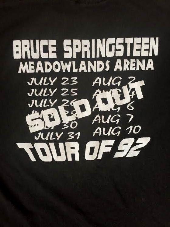 Bruce Springsteen 1992 THE BOSS Black Rock Concert TOur Tee