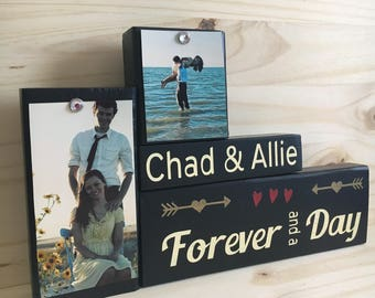 Bridal shower gift, engagement, unique wedding gift ideas, sign for home, forever and a day, couples gift, wife gift, modern sign decor