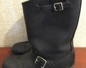 Motorcycle Black Frye Engineer Harness Boots Womens 8.5