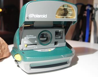 Polaroid One Step Express Instant 600 Camera, Hunter Green.