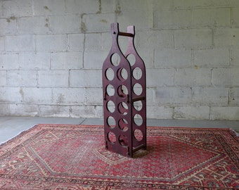 Mid Century Modern WINE RACK holder