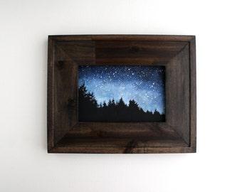 Framed Night Sky Painting