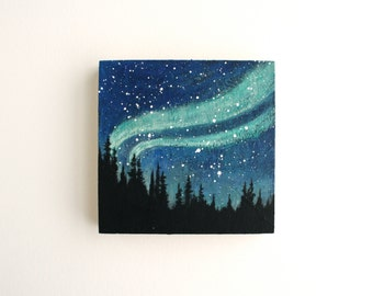 Northern Lights Painting - 4 x 4