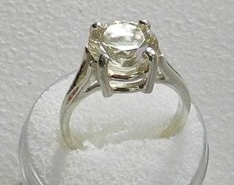 Oregon Sunstone Ring   10mm round solitare.    #3