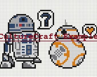 BB-8 <3 R2-D2 Cross Stitch Pattern