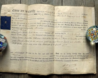 Victorian English legal document, from 1870 on parchment