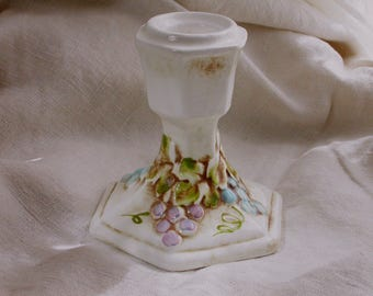 Lefton of Japan Candlestick Vineyard Blue and Purple Grapes
