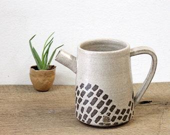 Handmade Pottery Pitcher, Stoneware Pottery Pitcher, Handmade Ceramic Jug, handmade Stoneware Pitcher, Beige Pitcher, Beige Jug