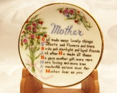 Small Mother Plate with stand - Miniature collectible plate