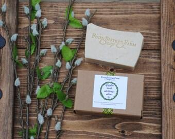 Magnolia Wreath, Magnolia Wreath Soap, Lilac Soap, Willow Soap, Spring Soap, Gardener Gift, Gardener Gift Soap, Spring Scent