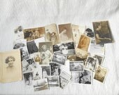 Large Vintage Photos Collection 31  English Ladies and Gents  Sepia Black and White