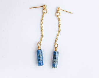 Lapis Dangle Earring - Jewelry Delicate Earrings Gift Anniversary Womens Birthday Gift Bridesmaids Earrings Good for the Soule
