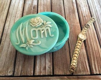 Vintage Turquoise Mom Jewelry Box