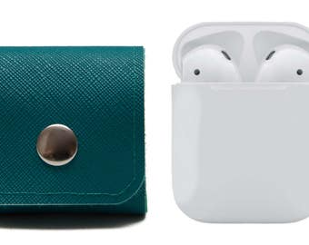 Apple AirPods Case. Earphones Cover. AirPods Carrying Solution. EarBuds. Teal. WeirdOldSnail