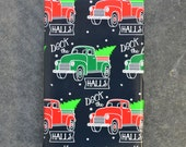 Deck the Halls Vintage Truck Christmas Wrapping Paper, 2 x 10 Feet
