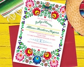 Fiesta Baby Shower Invitation, Mexican Fiesta Invite, Fiesta Birthday Invitation, Couples Shower Fiesta Invite, Printable Digital File #1013