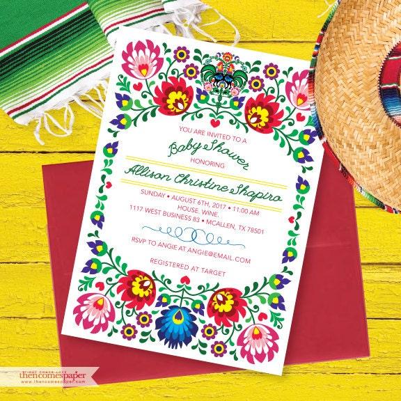 fiesta baby shower invitation mexican fiesta invite fiesta