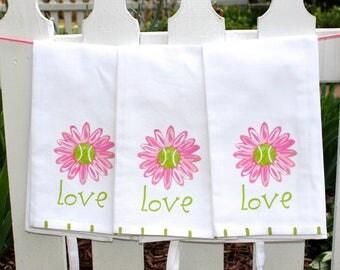 Tennis Love Kitchen Tea Towel Tennis Gift Hostess Gift