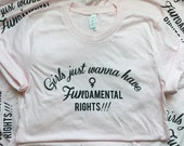 Girls just wanna have FUNdamental rights tee(PINK)