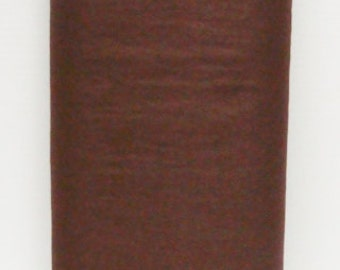 Chocolate Brown 35% Merino Wool Felt Blend Fabric By the Yard from woolhearts