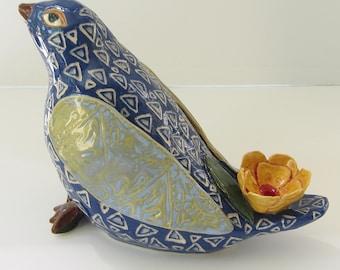 ceramic bird; ceramic art; pottery bird; ceramics and pottery; ceramic sculpture