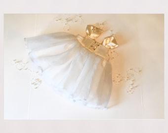 Baby Wedding dress,  fancy dress,  flower girl , wedding , baby baptism dress, fancy white dress