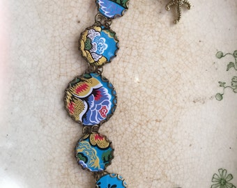 """Tin Jewelry Bracelet """"Barrier Reef"""" Tin for the Ten Year Anniversary"""