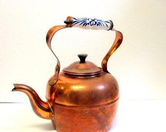 SALE Copper Tea Pot made in Portugal