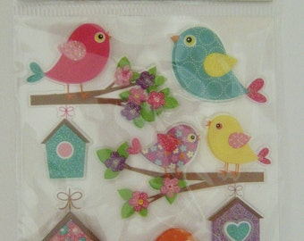 Birds and Birdhouses Dimensional Stickers