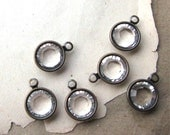8mm Swarovski Crystal Channel 1 Loop Drops Charms in Oxidized Brass 39SS (6)