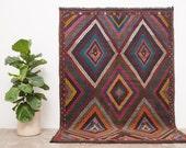 ABU 6x8.5 Hand Woven Turkish Kilim Wool Rug