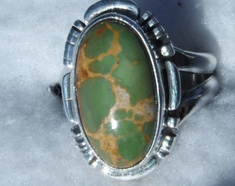 NATURAL  ROYSTON  TURQUOISE Ring:    #887y