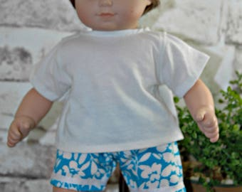 American, made, girl, doll, clothes, bitty, shorts, tee shirt, baby, doll
