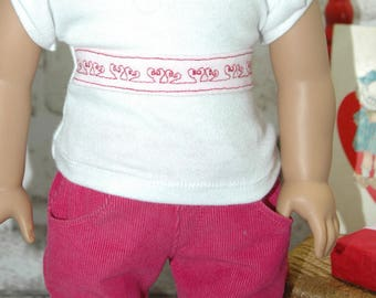 American, Made, Girl, doll, tee, shirt, 18 inch, doll clothes, doll clothes, skirt