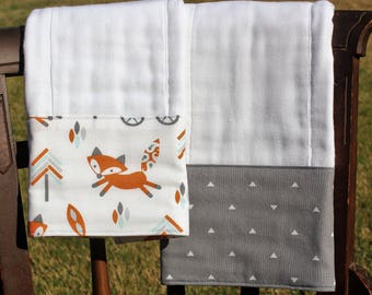 Burp Cloth Set, Monogrammed Burp Cloth Set, Personalized Burp Cloth Set, Baby Boy Burp Cloth Set