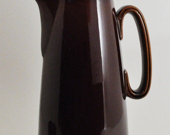 Brown Drip Oven Proof USA Tall Coffee Carafe Pot With Lid - 8 Cup