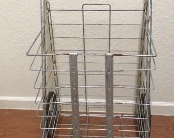 Vintage folding  grocery cart