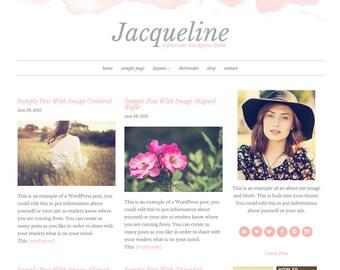 Jacqueline: Feminine WordPress Theme Built for Beginner and Intermediate Bloggers