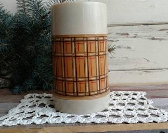 Retro Plaid Aladin Thermos - Time For Tea or Coffee, Vintage Kitchen Decor, Soup Warmer, Warm Beverage Holder, Coffee Thermos, Soup Thermos