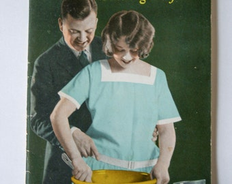 "Vintage Bread Making Cookbook, ""Young Mother Hubbards Baking Day"" Published Hubbard Milling Co"